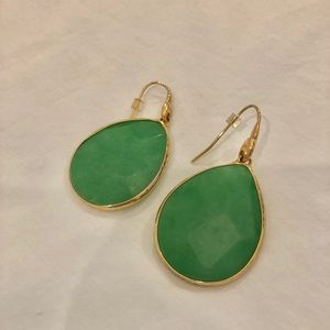 Stella & Dot green drop earrings